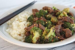 Beef and Broccoli with Rice