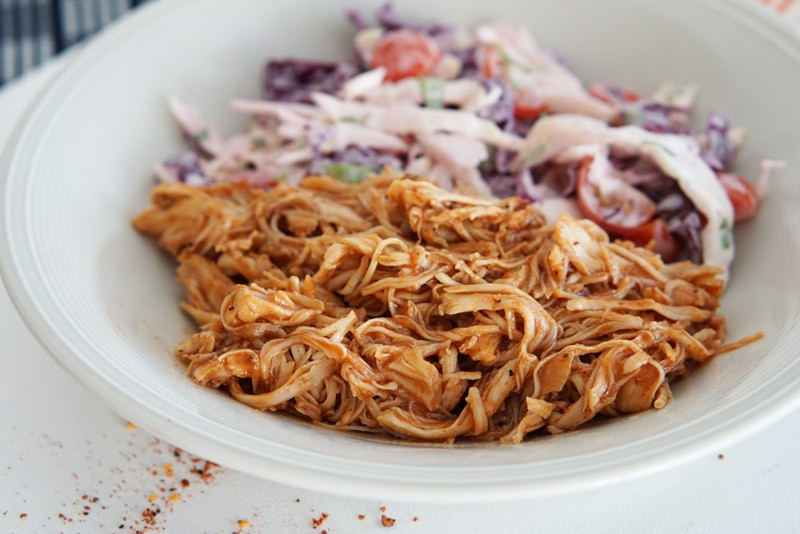 bbq pulled chicken with cole slaw